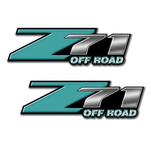Z71 OFF ROAD Decals Teal