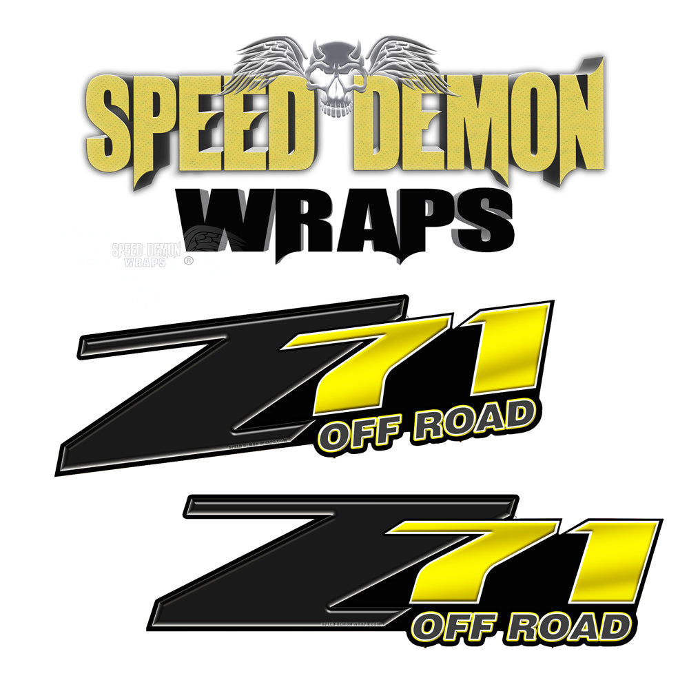 Z71 Offroad Decals Yellow