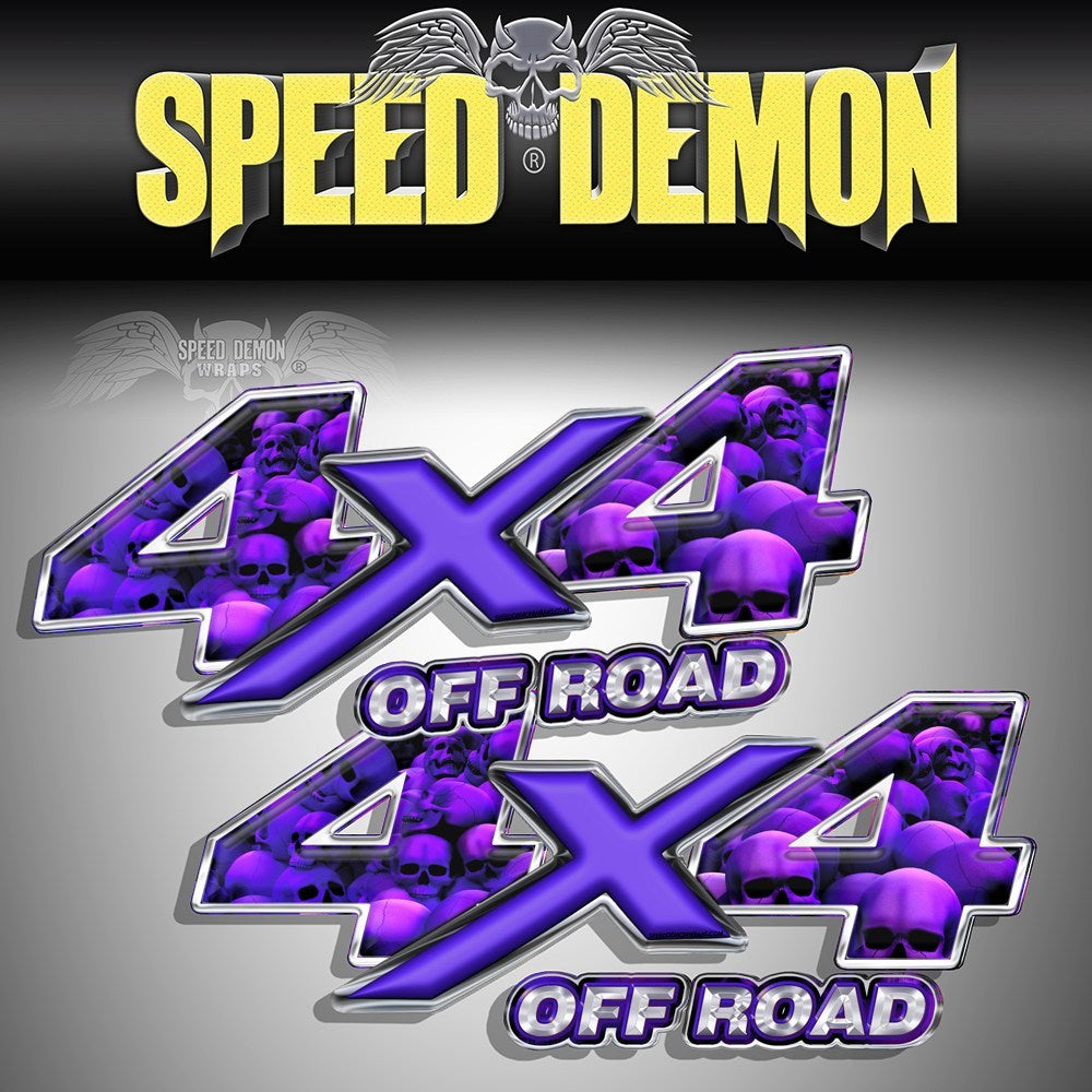 4X4 Decals Purple Skull Crusher MK - Speed Demon Wraps