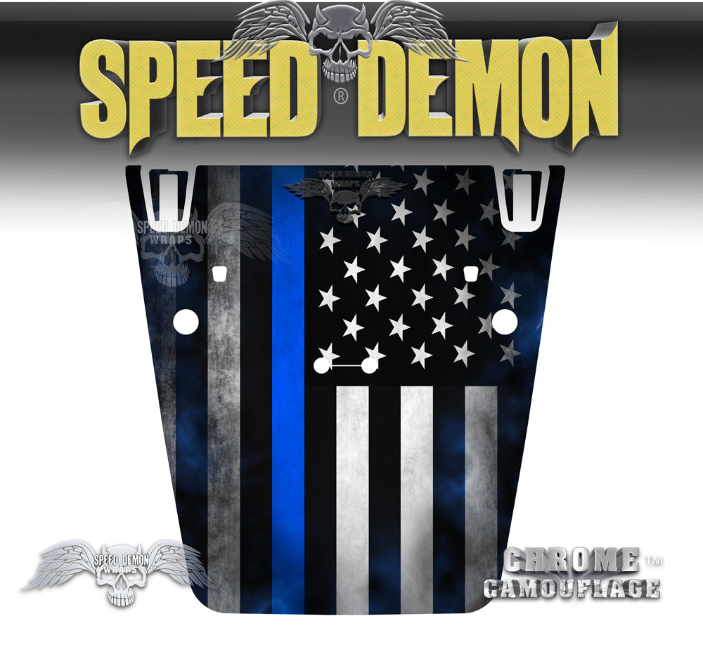 American Flag Police Thin Blue Line Wrap