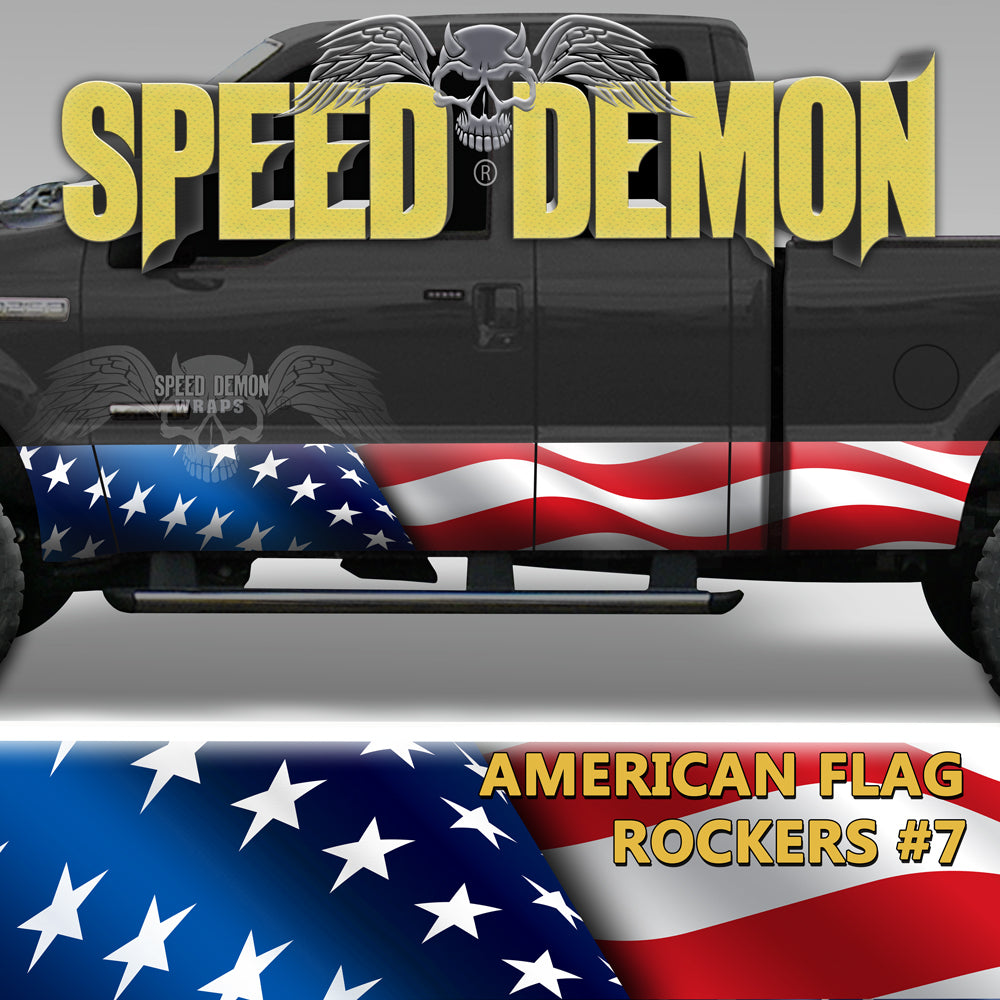 American Flag Rocker Panel Wrap