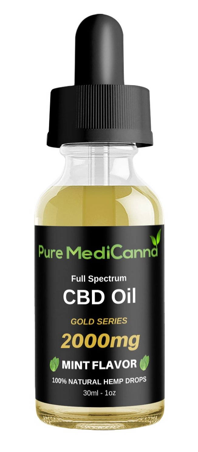 Gold Series Full Spectrum CBD Tincture - 2000 mg CBD - PMC