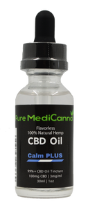 Calm PLUS 99%+ CBD Isolate Tincture - 100mg CBD - PMC