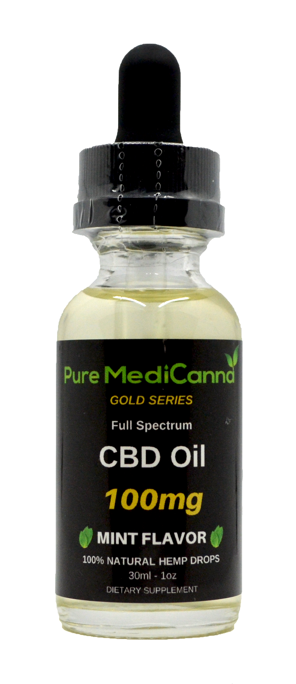 Gold Series Full Spectrum CBD Tincture - 100mg - PMC