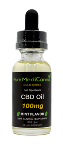 Gold Series Full Spectrum CBD Tincture - 100mg