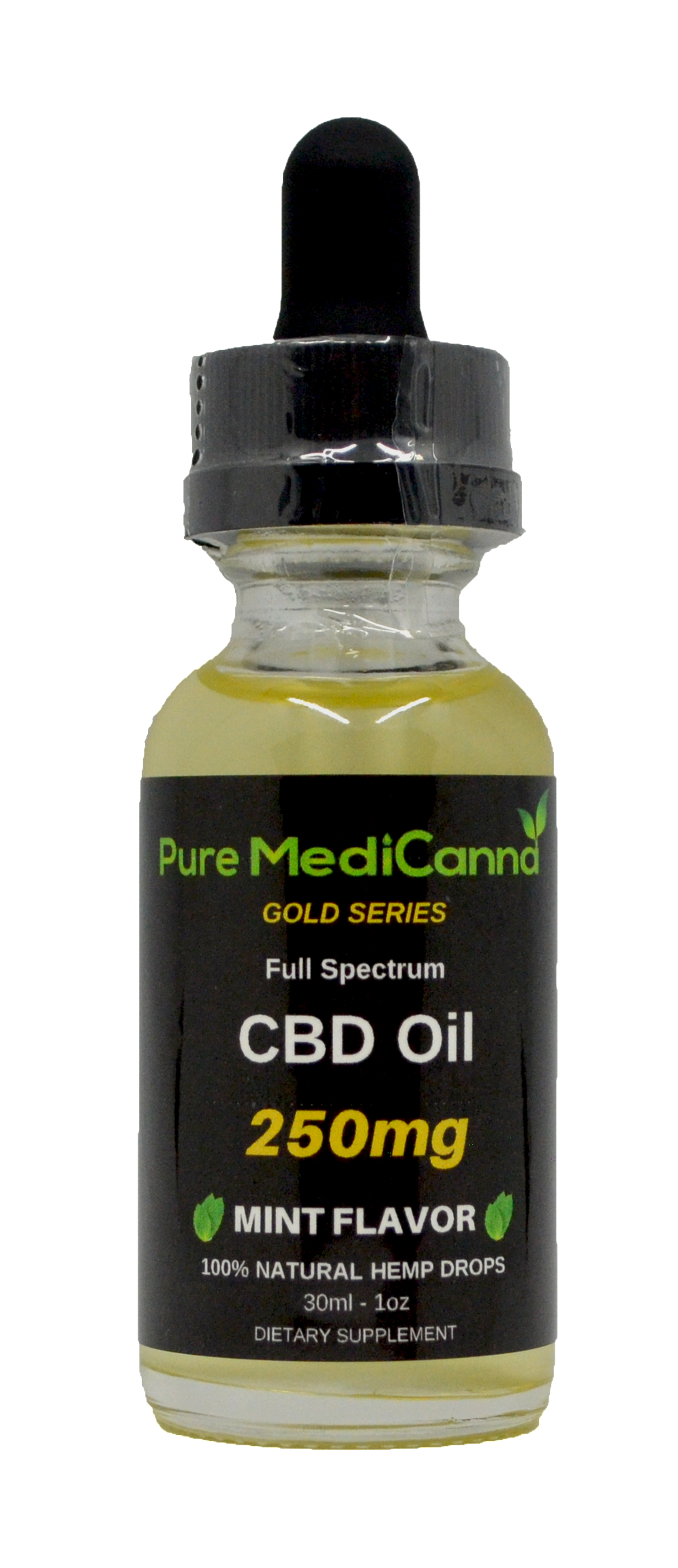 Gold Series CBD Oil Tincture - Full Spectrum CBD - 250mg