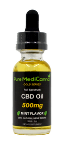 Gold Series Full Spectrum CBD Tincture - 500mg CBD - PMC