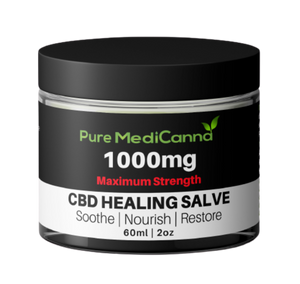 All Natural 1000mg CBD Salve - Maximum Strength - PMC