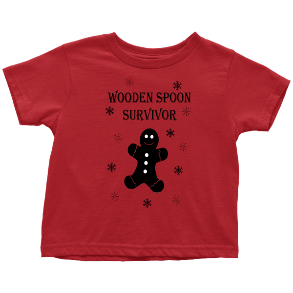 Wooden Spoon Survivor Gingerbread Toddler Tshirt
