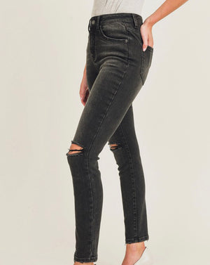 Split Knee High Rise