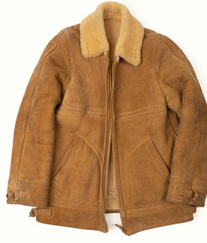 Her father's shearling jacket