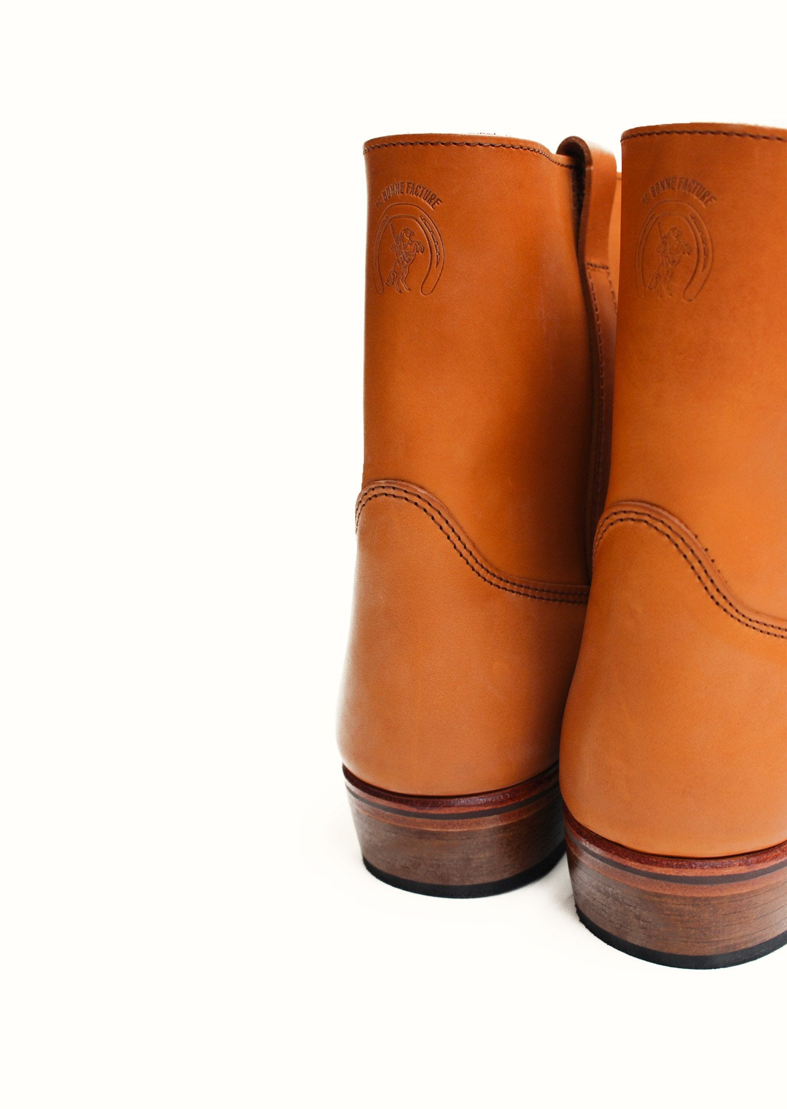 Gardian Boots - Natural full grain calfskin leather - Tan