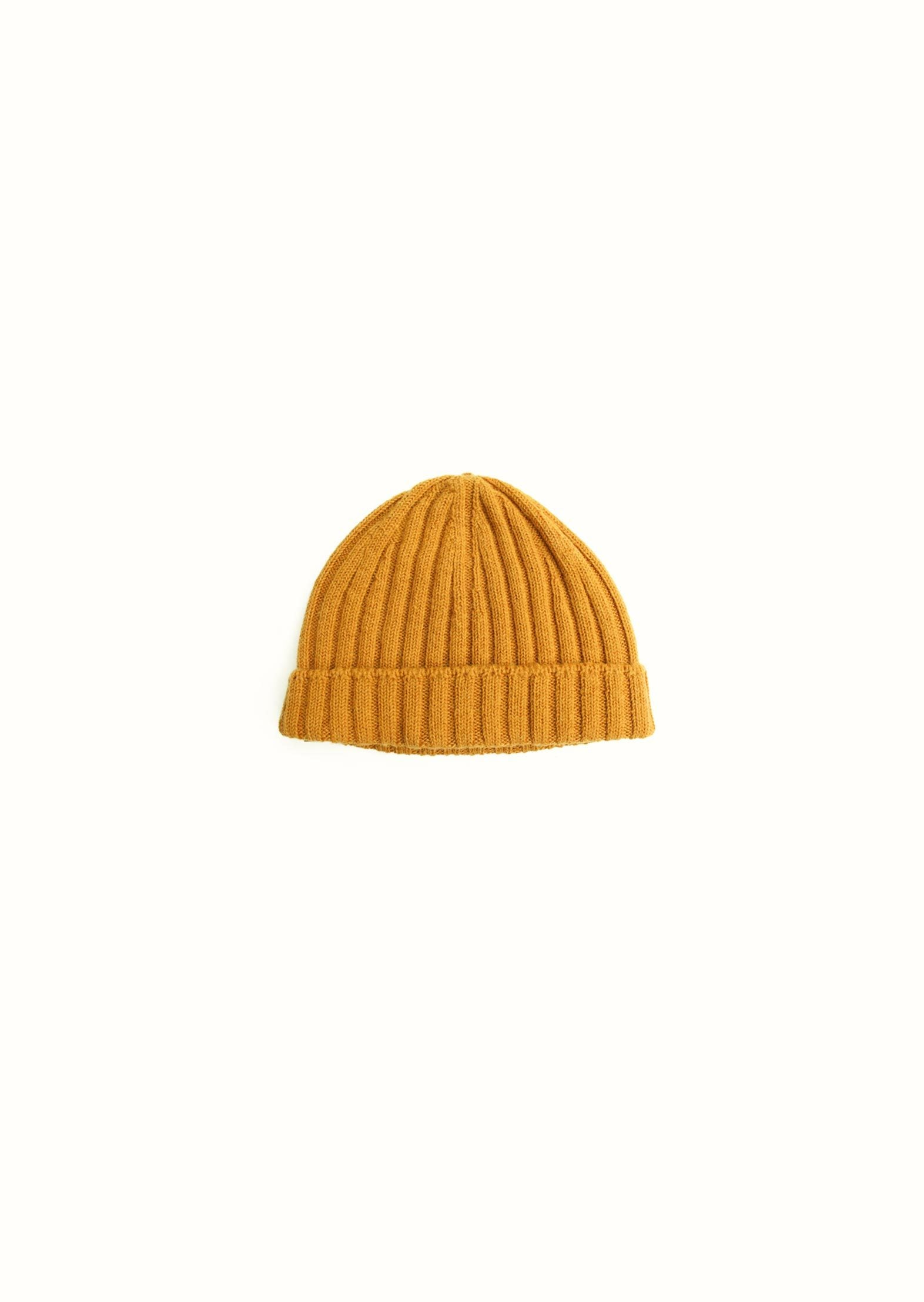 Ribbed beanie - Wool and alpaca blend - Honey - De Bonne Facture