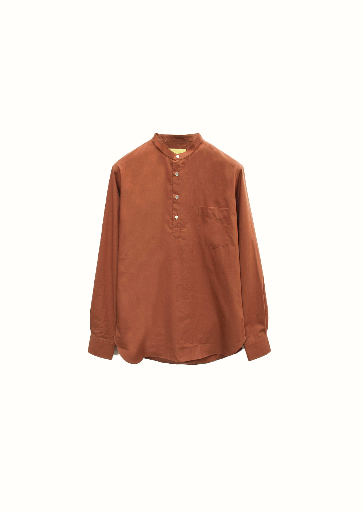 Mao collar popover shirt