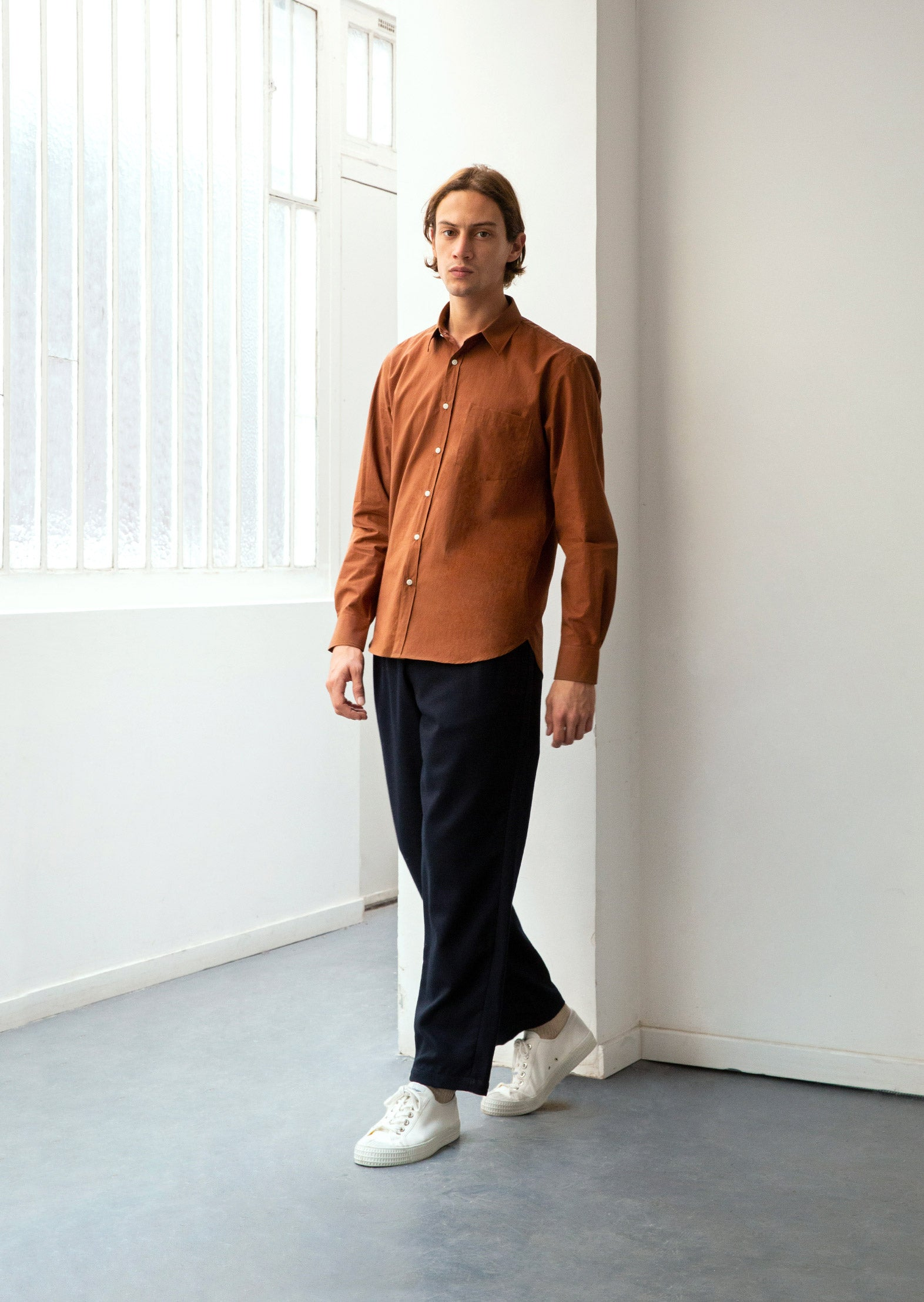 Essential shirt - Typewriter cotton - Rust