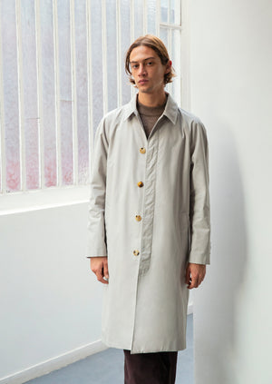 Long mac - English organic cotton ventile - Beige