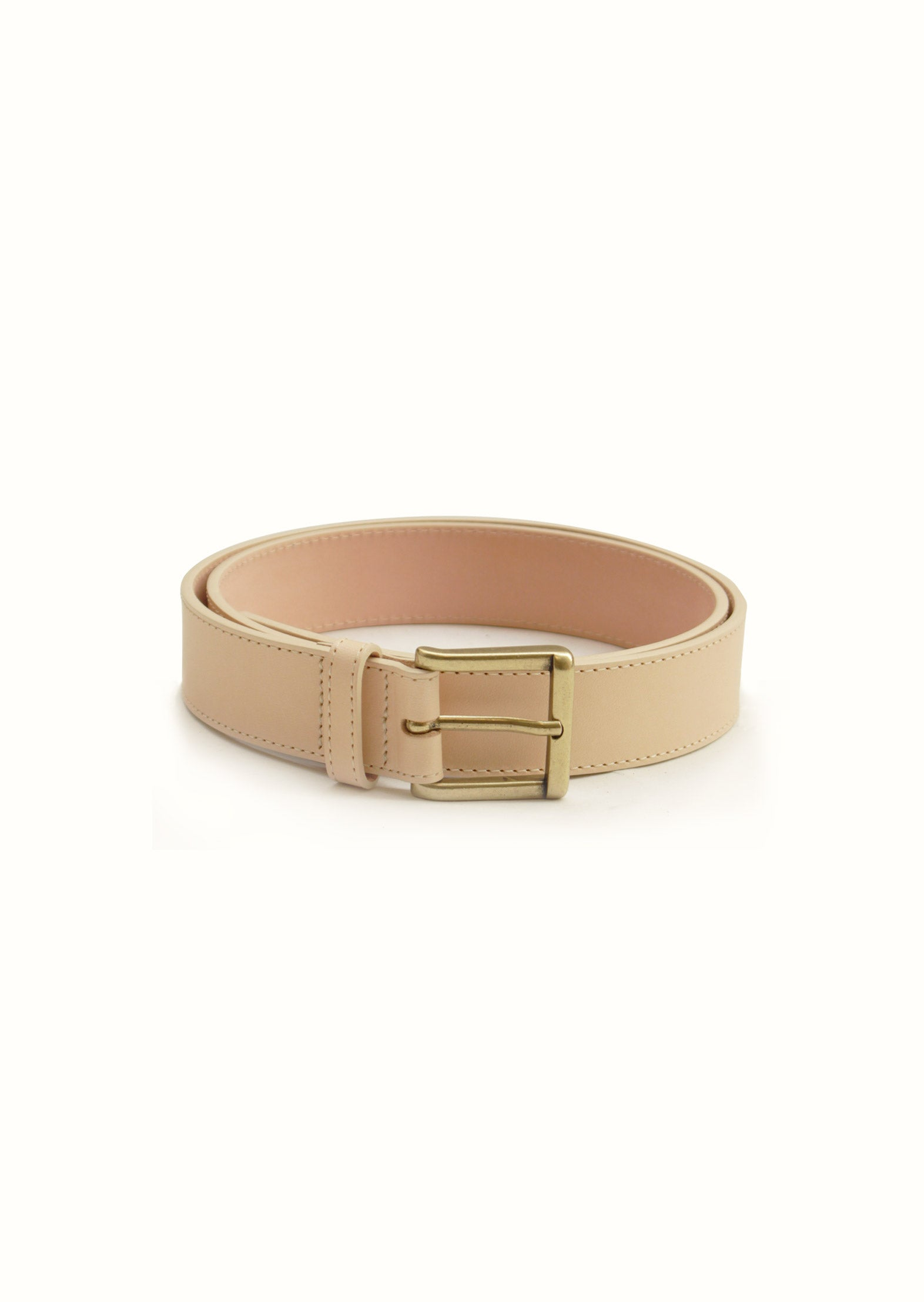 Essential belt - Vegetal tanned leather - Natural
