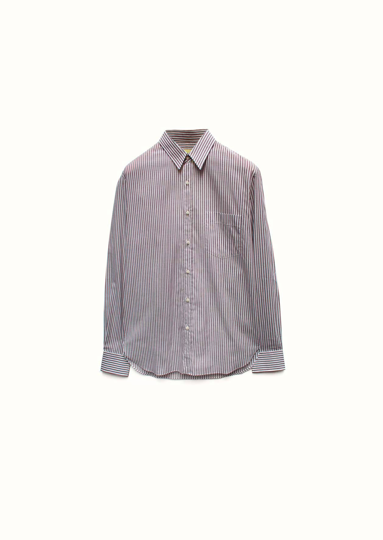 Essential shirt - Japanese cotton voile - Brown stripes