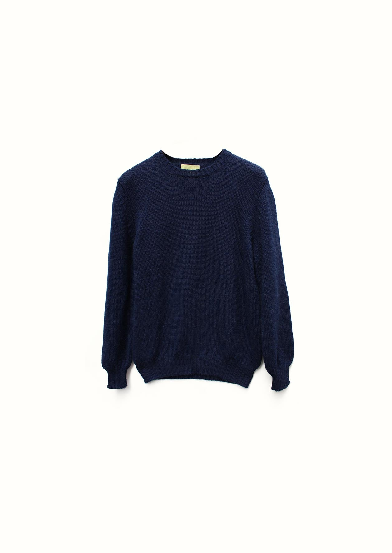 Crew neck sweater - Peruvian superfine alpaca blend - Ink blue