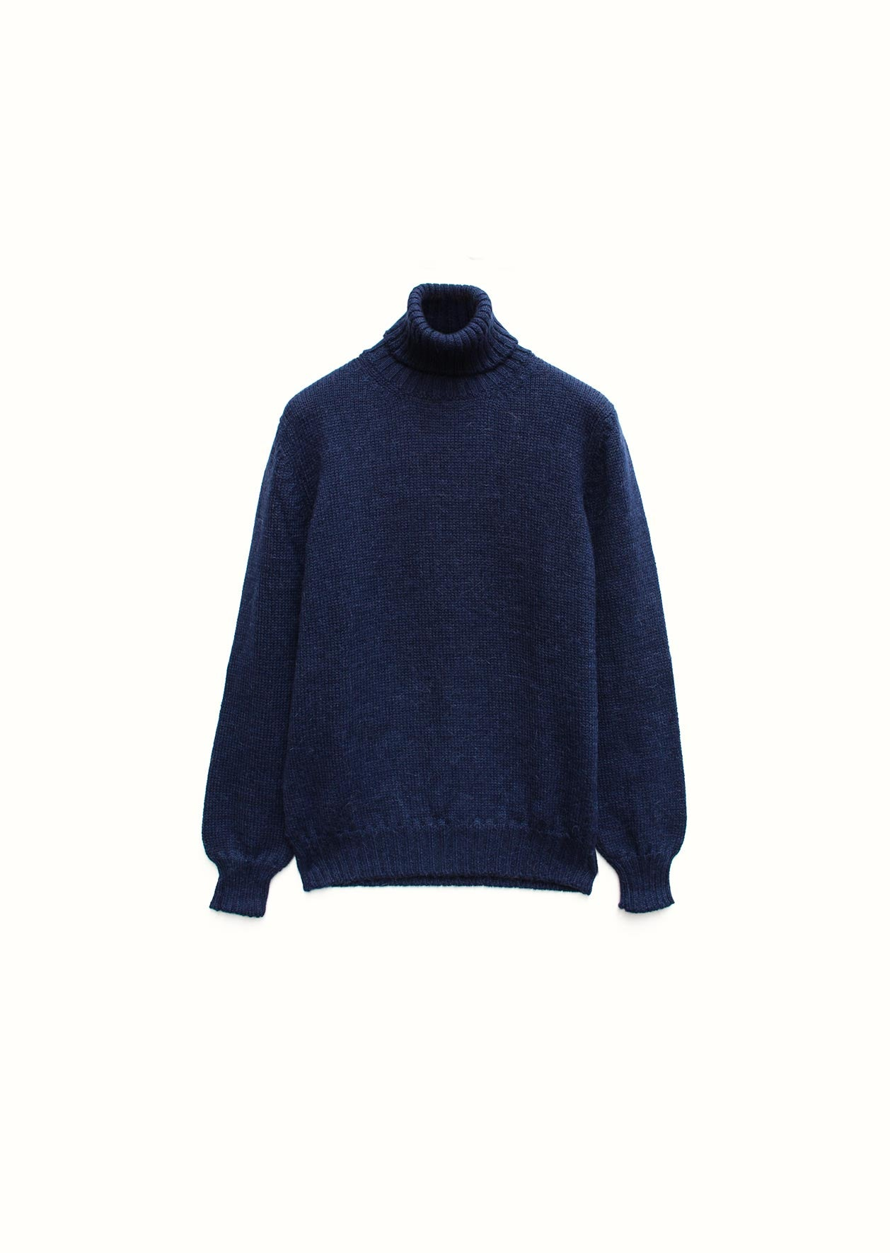 Turtle neck sweater - Peruvian superfine alpaca blend - Ink blue - De Bonne Facture