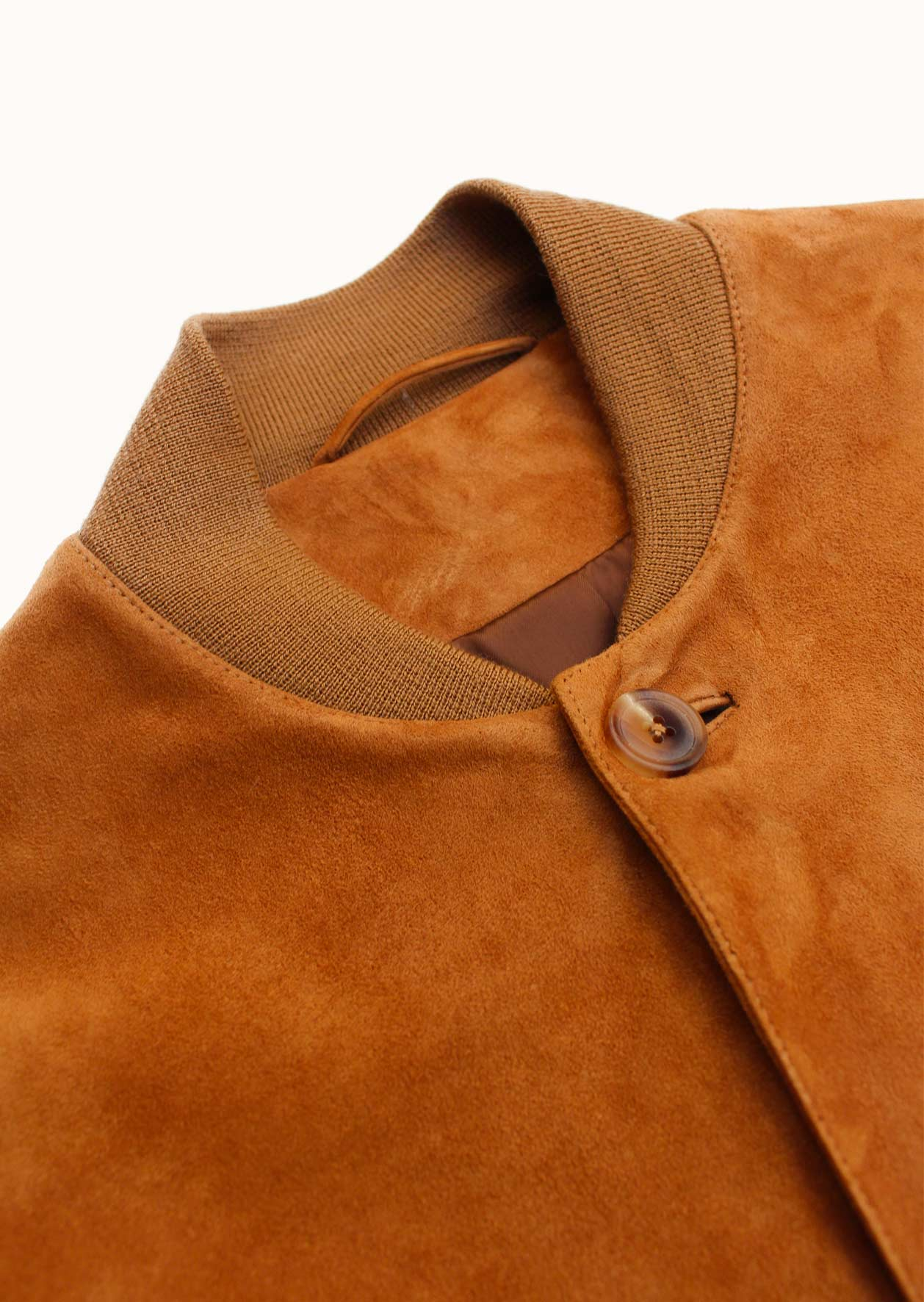 Teddy jacket - Lamb suede leather - Hazelnut - De Bonne Facture