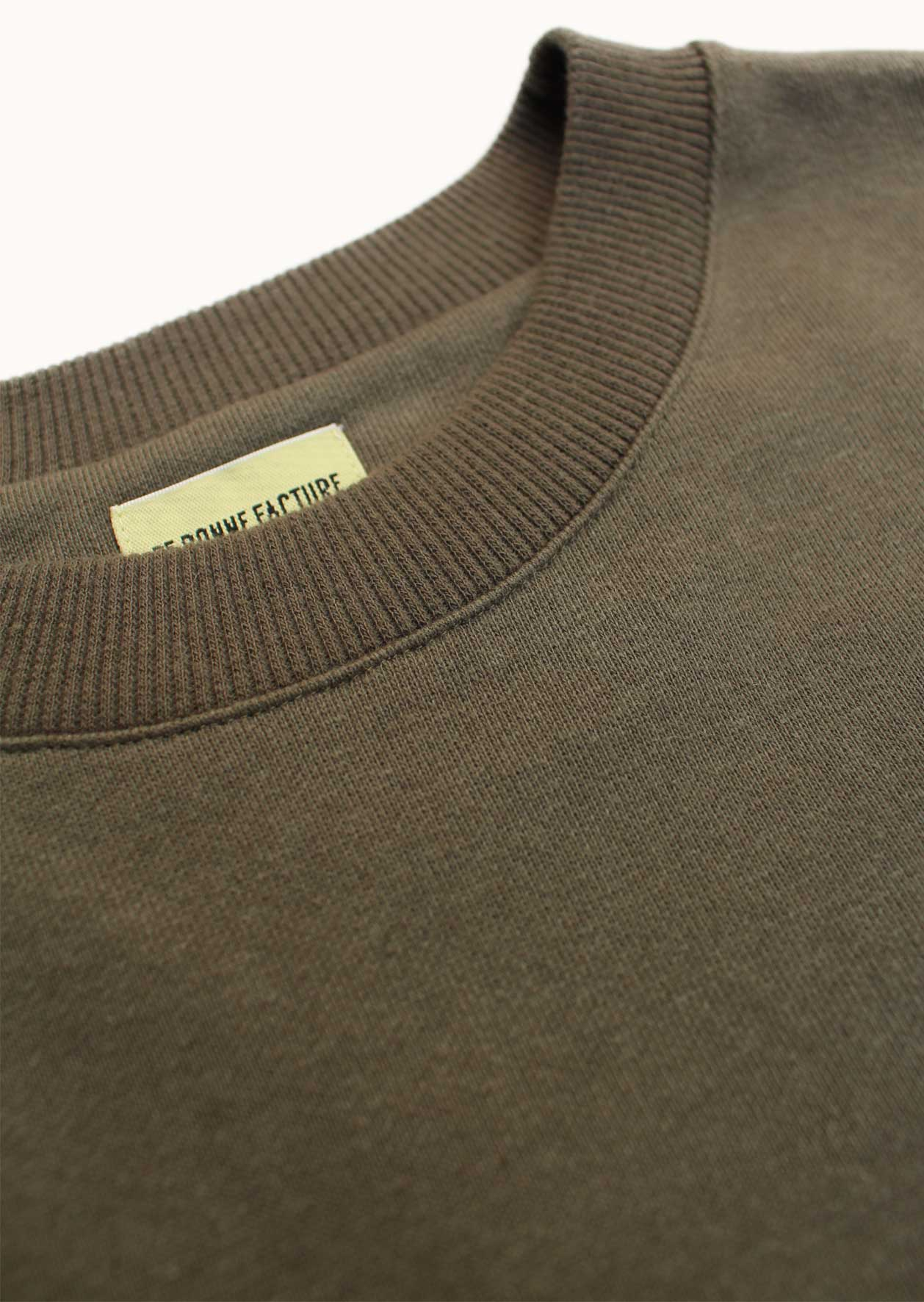 Essential sweatshirt - Supima® cotton fleece - Khaki - De Bonne Facture