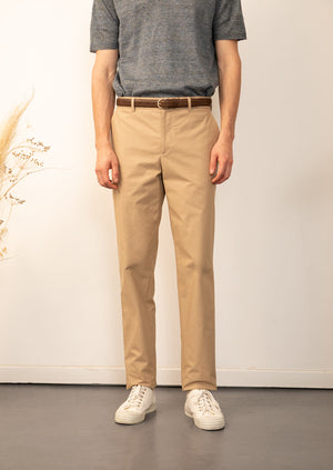 De Bonne Facture - Chino trousers - Compact cotton - Camel