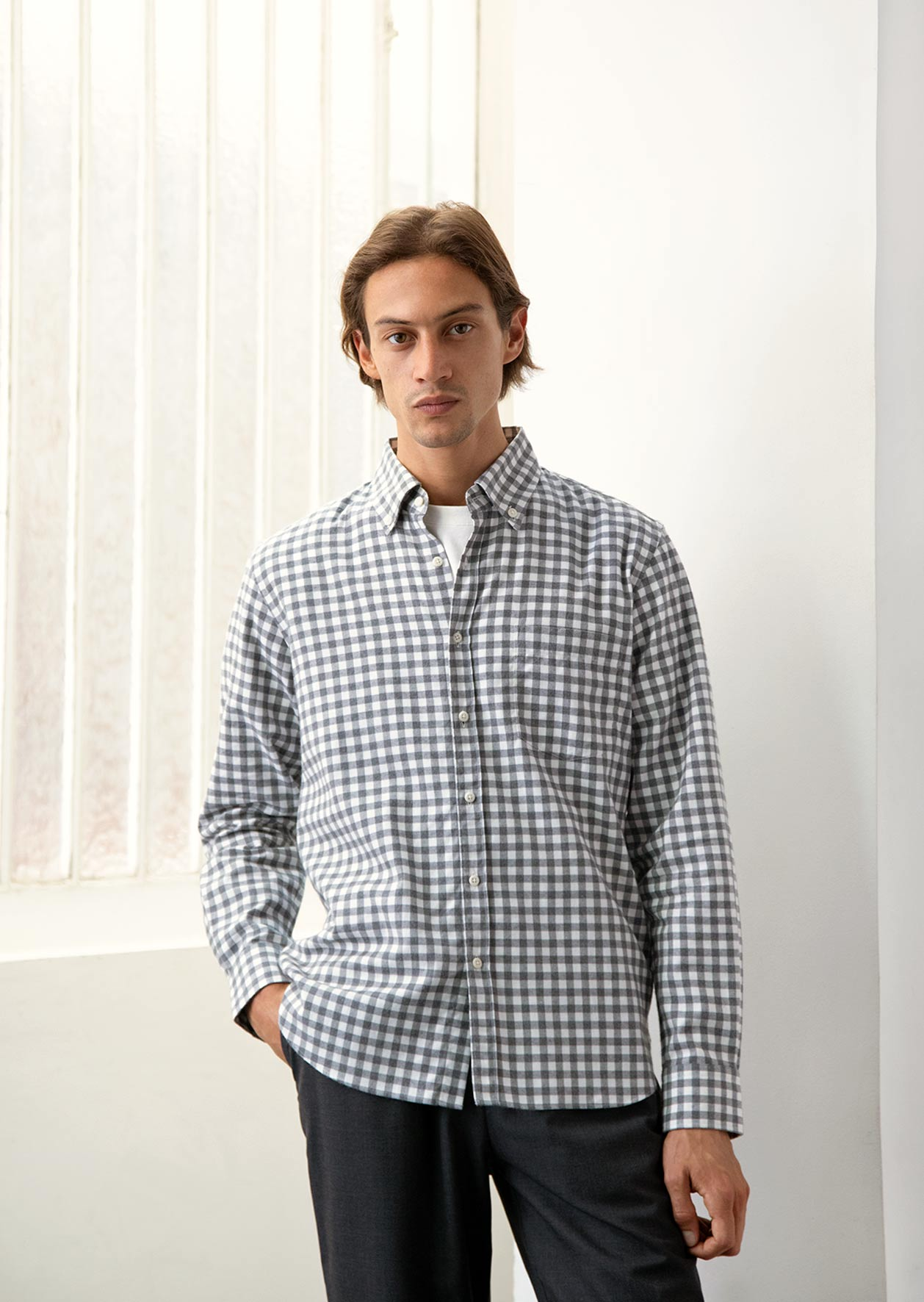 De Bonne Facture - Buttondown shirt - Cotton flannel - Checks