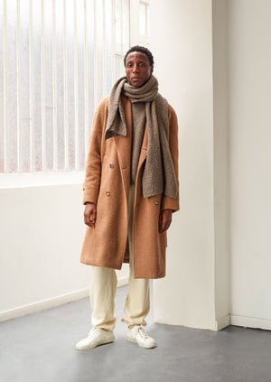 De Bonne Facture - Grandad trench coat - Camel hair wool cloth - Camel
