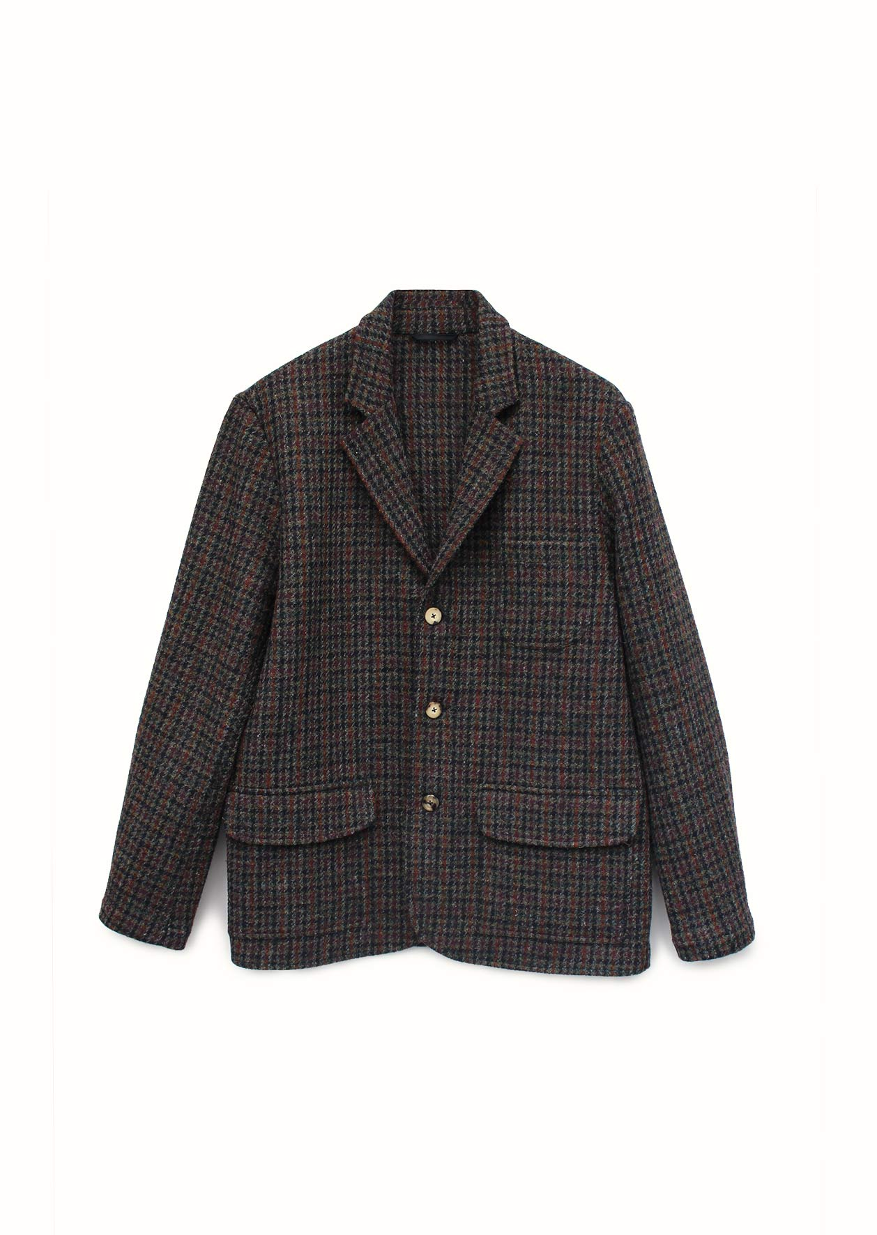 De Bonne Facture - Casual jacket - Wool - Navy houndstooth