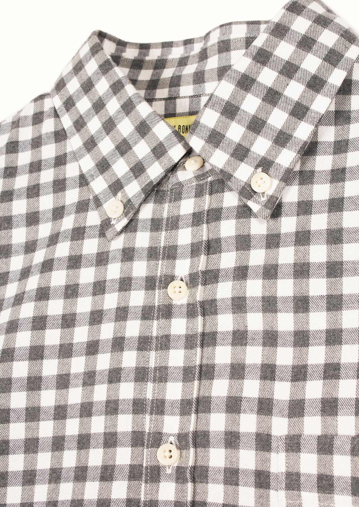 Buttondown shirt - Cotton flannel - Checks
