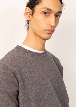 De Bonne Facture - Crewneck knit - Merino wool - Heathered grey