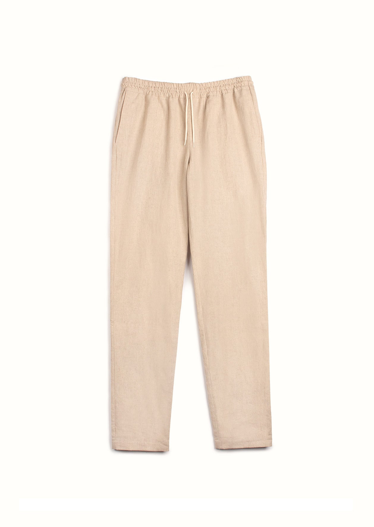 De Bonne Facture - Easy trousers - Japanese linen & cotton - Beige