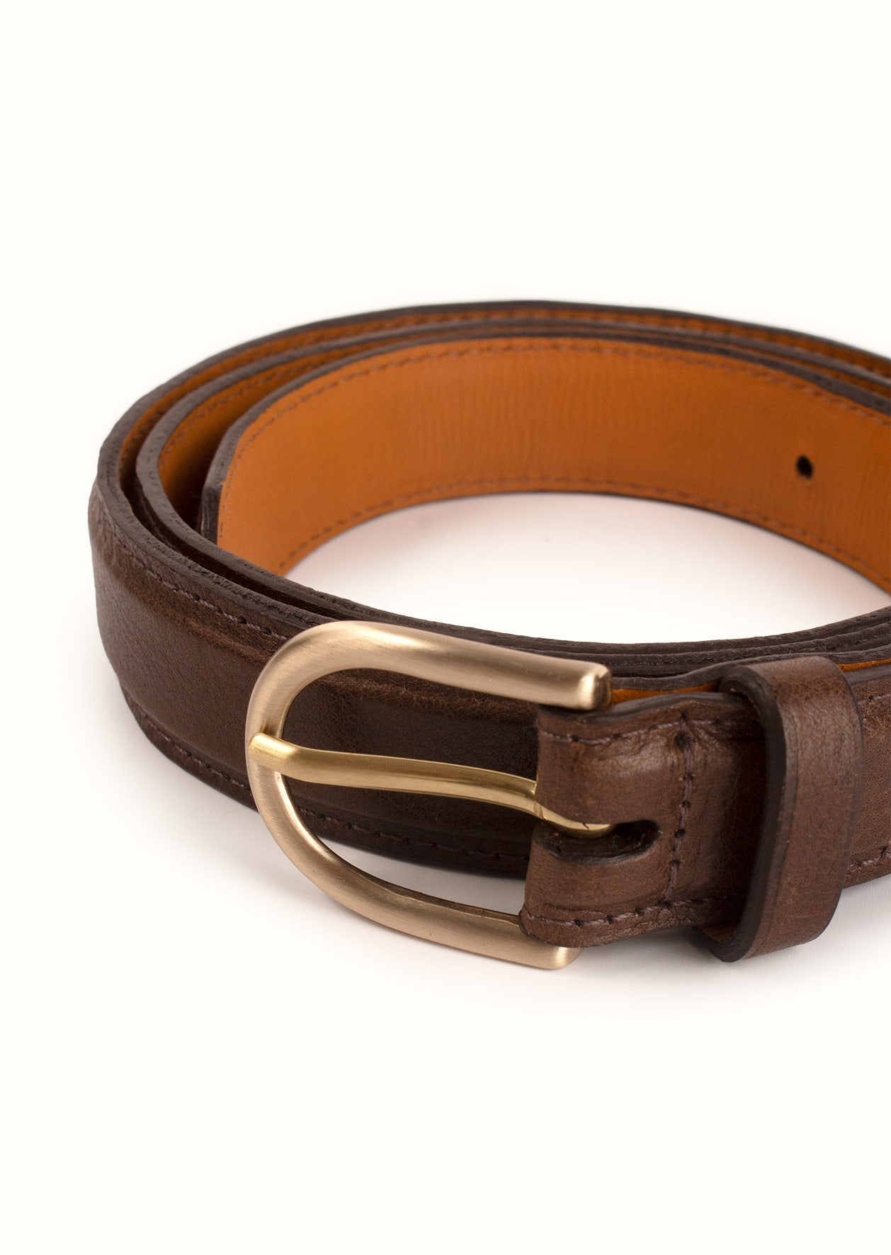 De Bonne Facture - Essential belt - Suede leather - Tobacco