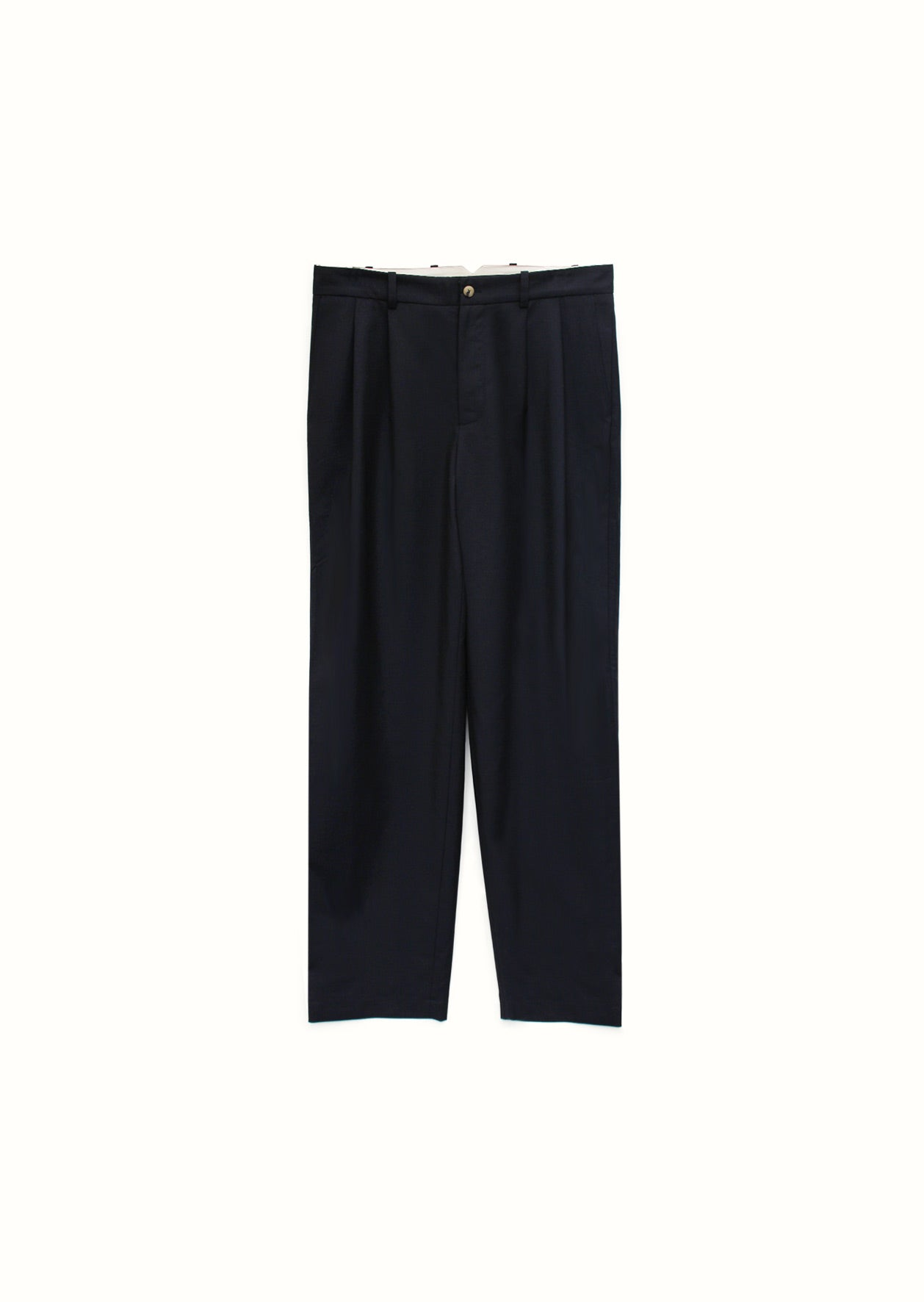 Two pleat large trousers - Tropical wool - Navy - De Bonne Facture