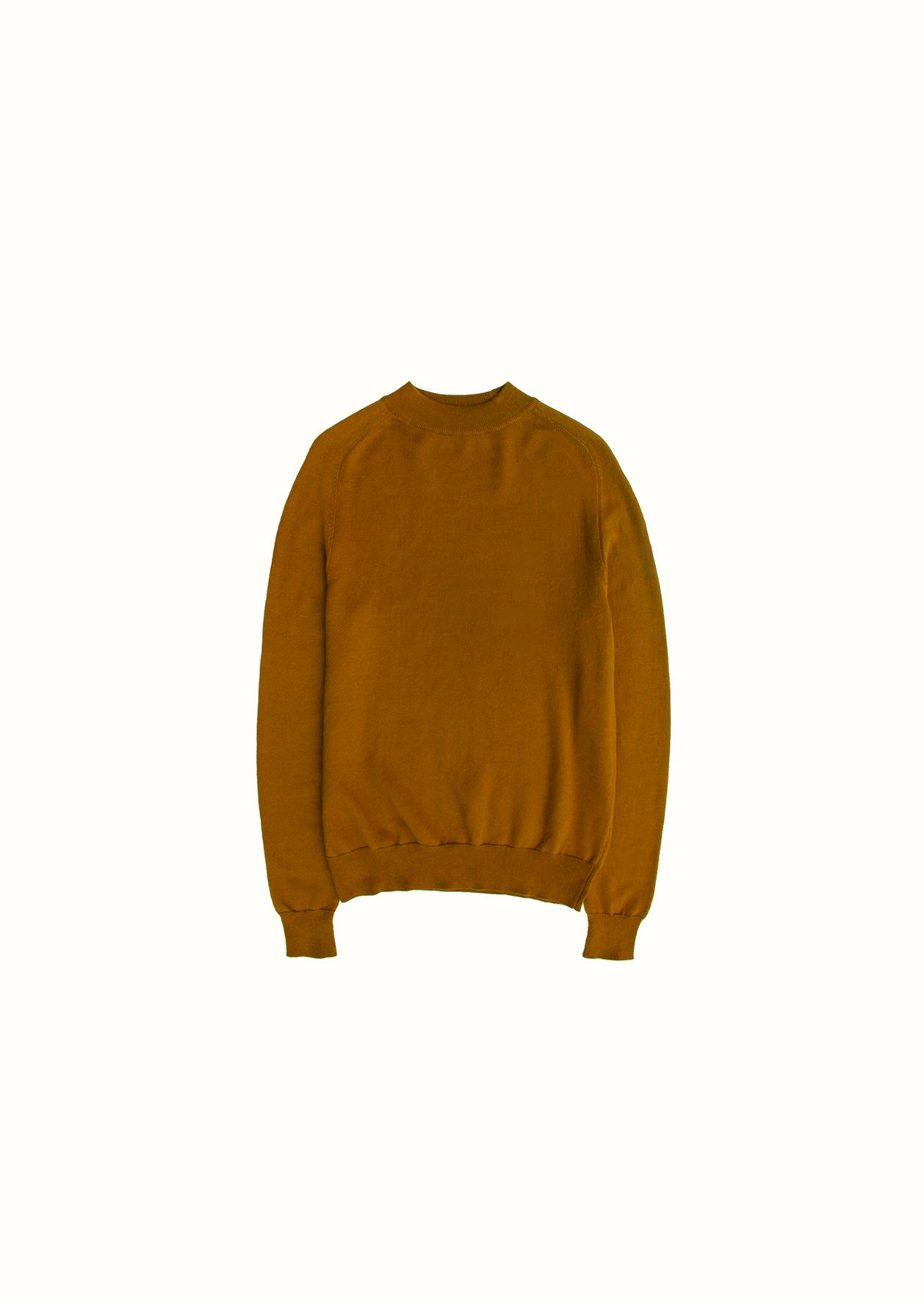 Mock neck knit - Organic cotton - Cinnamon - De Bonne Facture