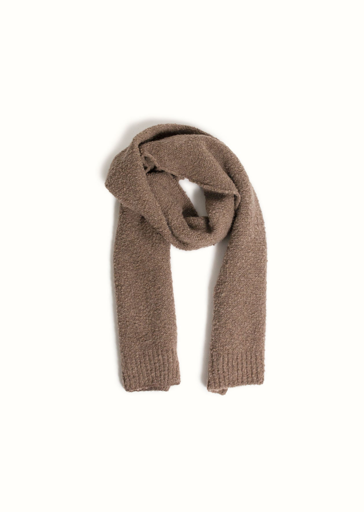 De Bonne Facture - Knitted scarf - Undyed Pecora Nera® wool - Taupe