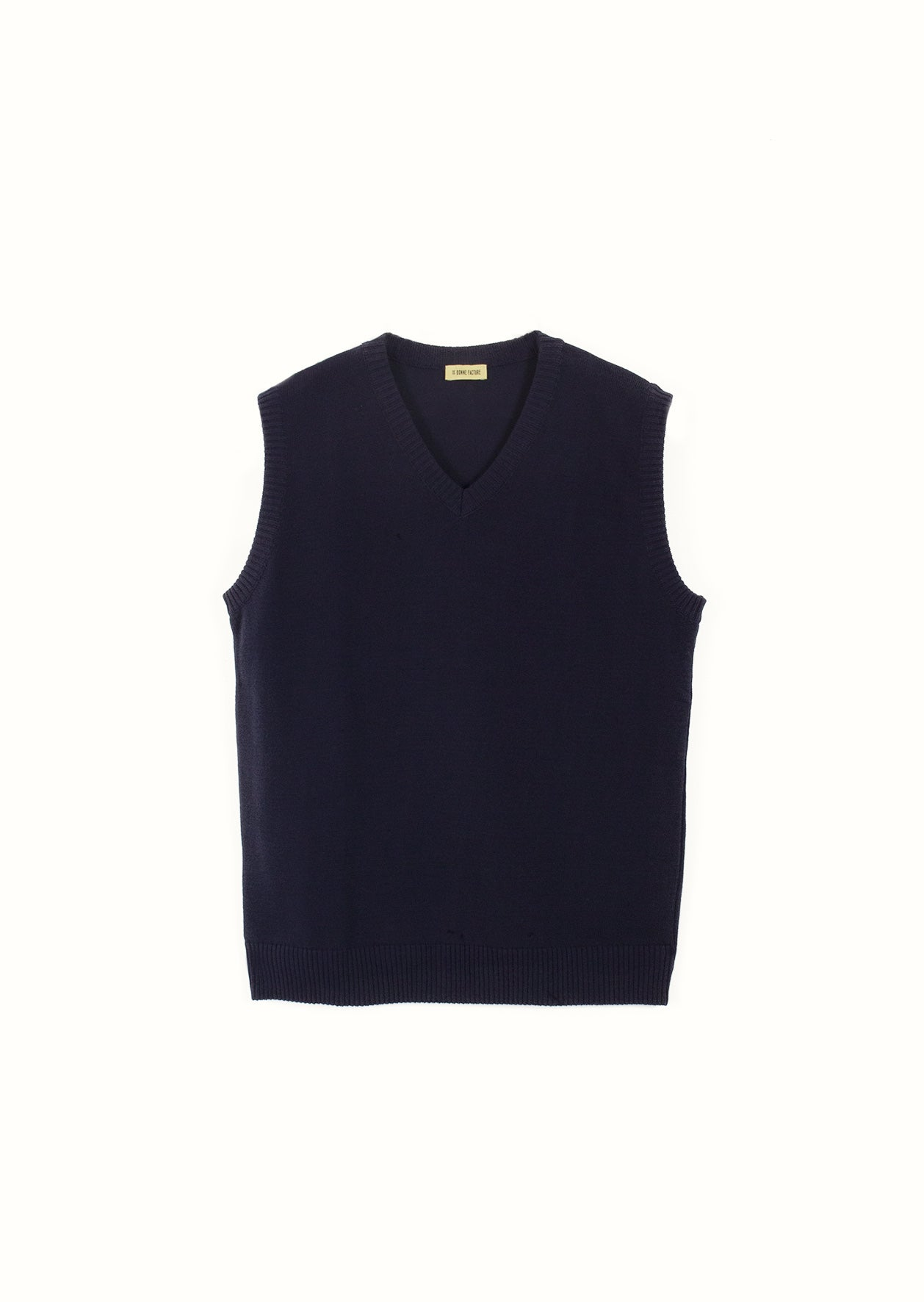 De Bonne Facture - Knitted vest - Organic cotton - Navy