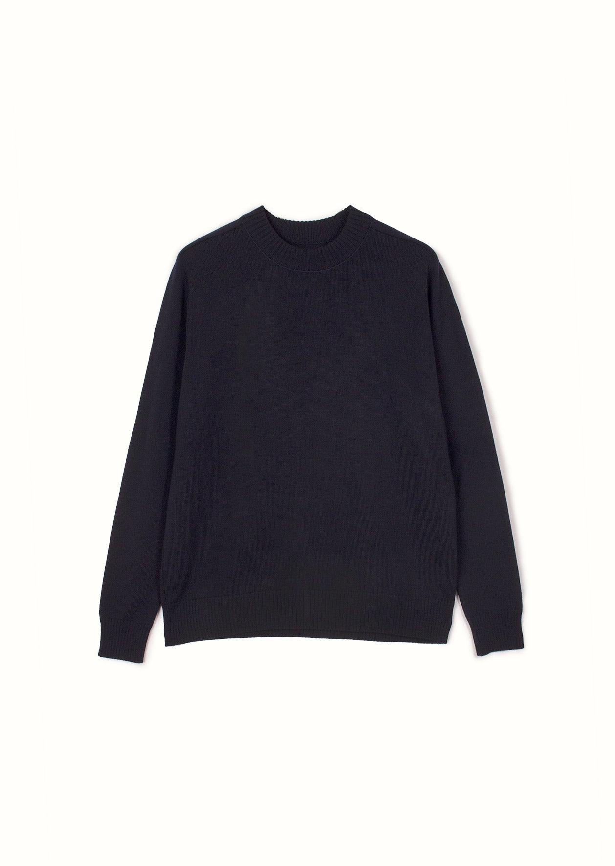 De Bonne Facture - Mock neck knit - Merino wool - Navy