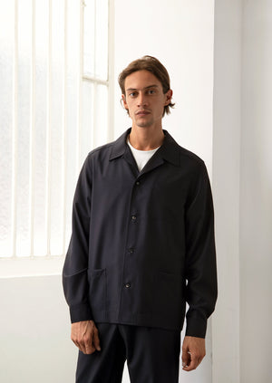 De Bonne Facture - Painter's jacket - Wool - Navy