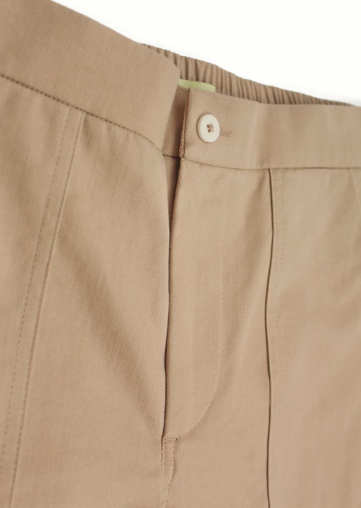 Painter's short - Organic cotton twill - Beige - De Bonne Facture