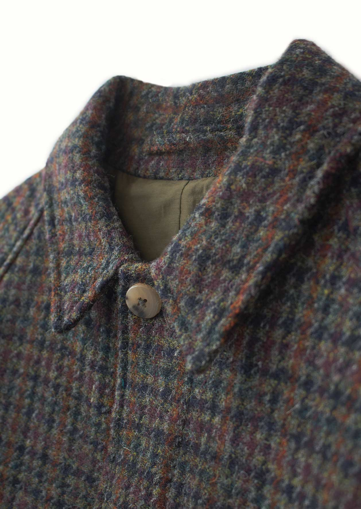 De Bonne Facture - Parisian raincoat - Harris tweed wool - Navy houndstooth