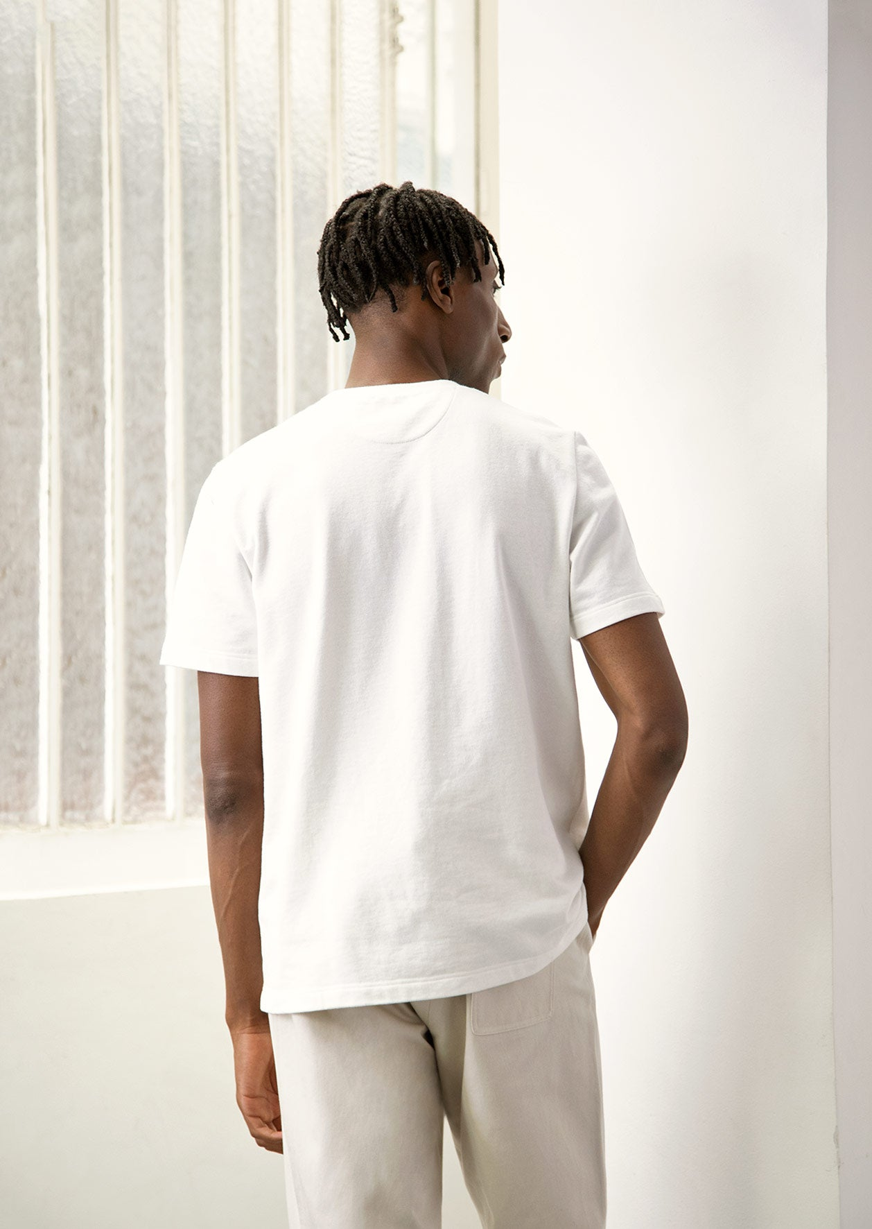 De Bonne Facture - Pocket t-shirt - Heavy weight cotton - Off white
