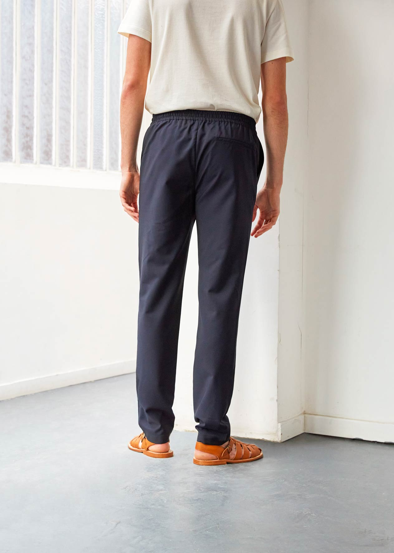 Rexaled trousers - Tropical wool - Navy - De Bonne Facture