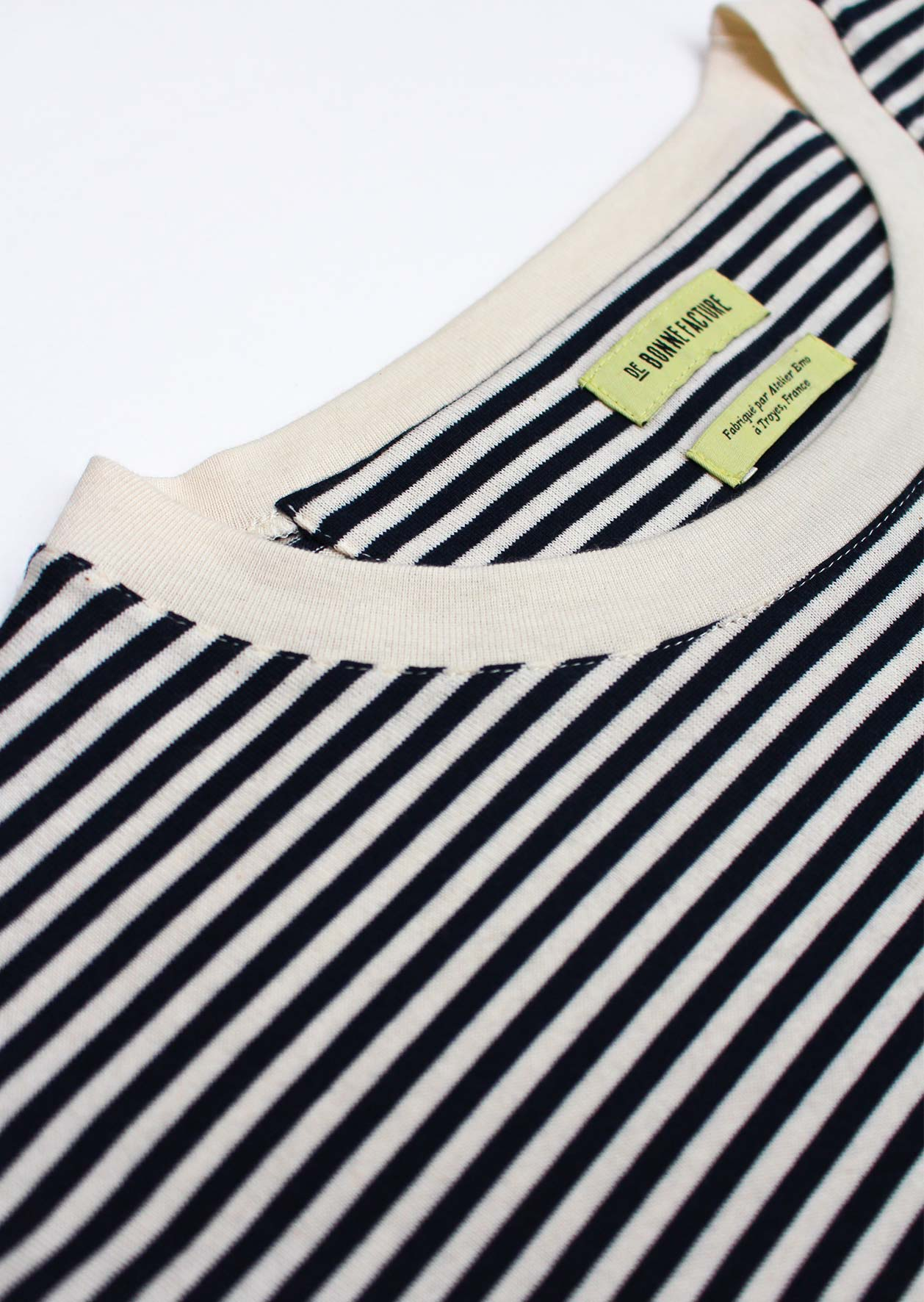 Essential t-shirt - Japanese cotton jersey - Navy stripes - De Bonne Facture