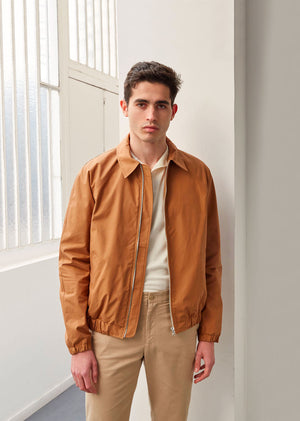 Golf jacket - Organic cotton ventile® - Cinnamon - De Bonne Facture