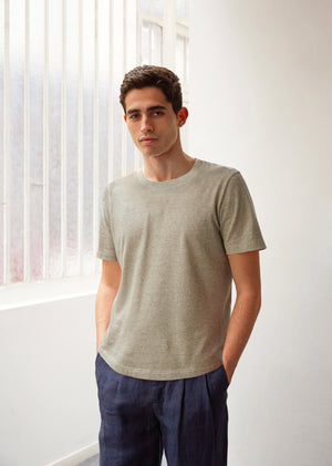 Essential t-shirt - Organic cotton jersey - Khaki - De Bonne Facture