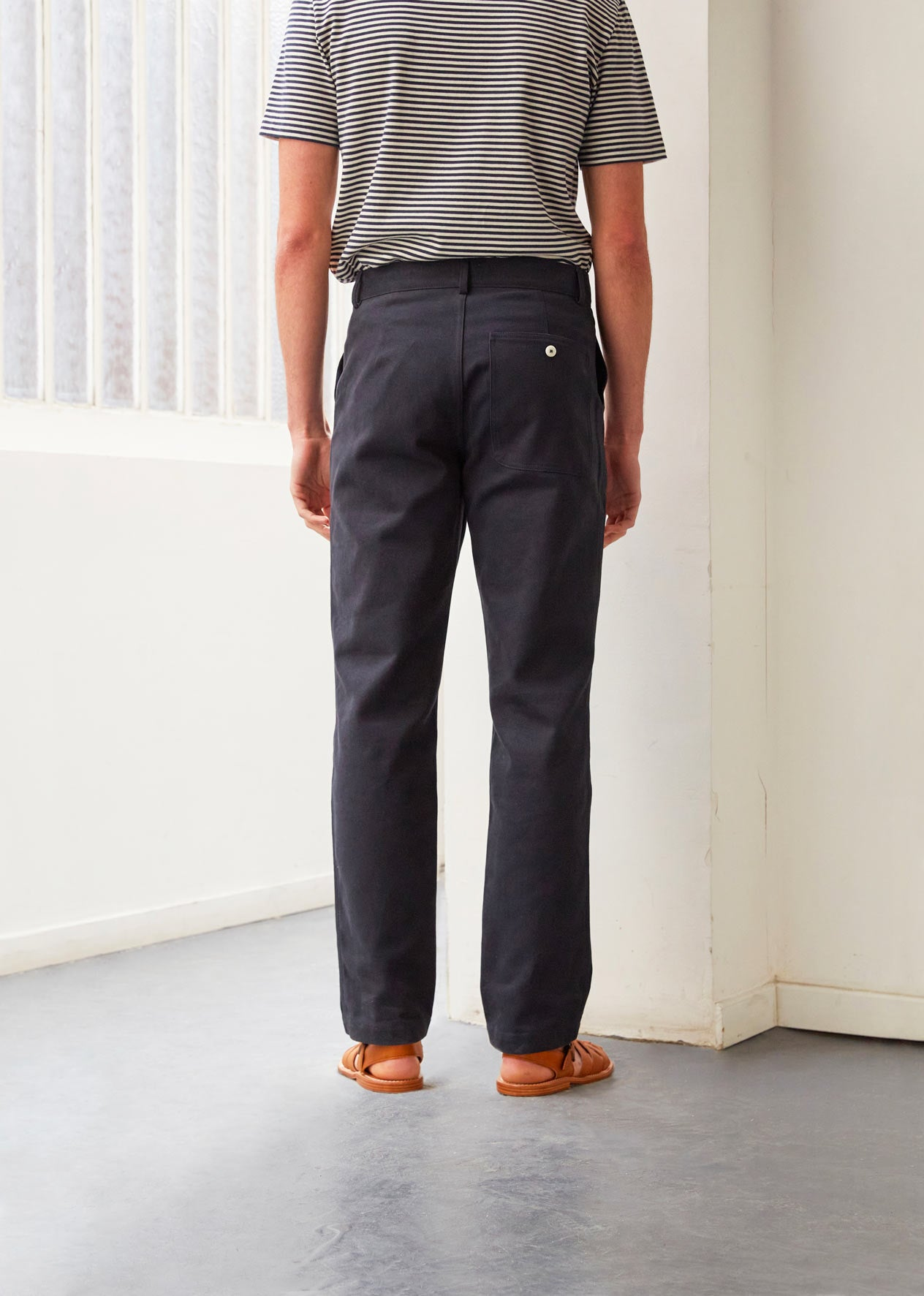 Painter's trousers - Organic cotton twill - Night blue - De Bonne Facture