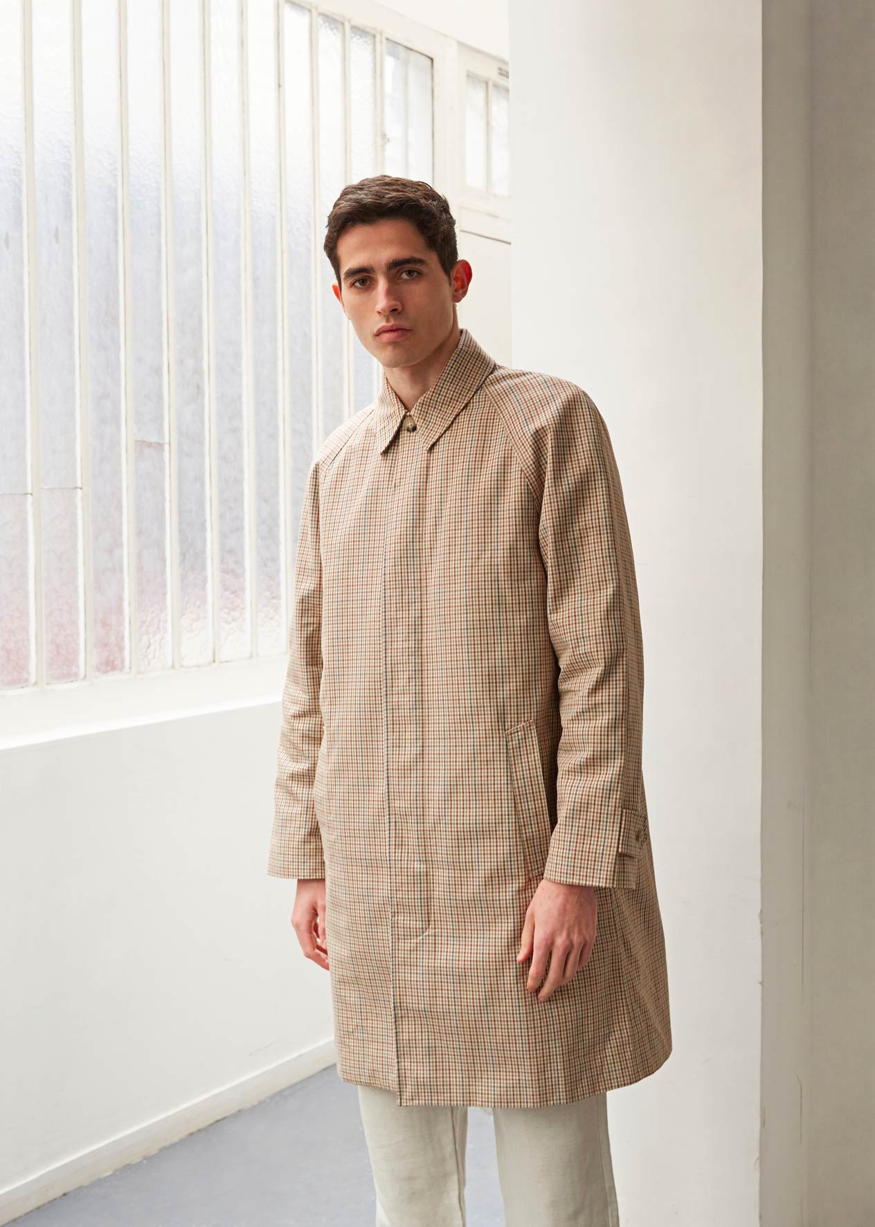 Parisian raincoat - Italian cloth - Scottish check - De Bonne Facture