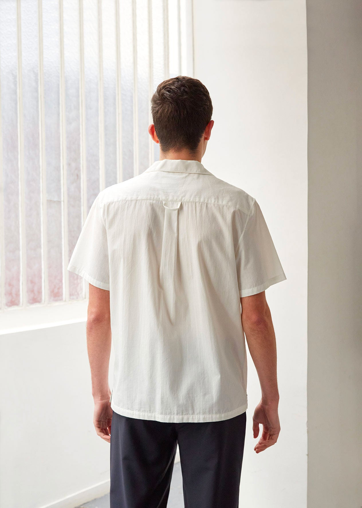 Short sleeve shirt - Japanese vintage cotton - White - De Bonne Facture